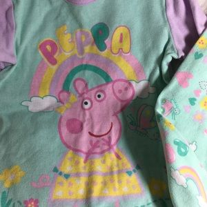 Peppa Pig Toddler Pajama Set Multicolored SZ 5T